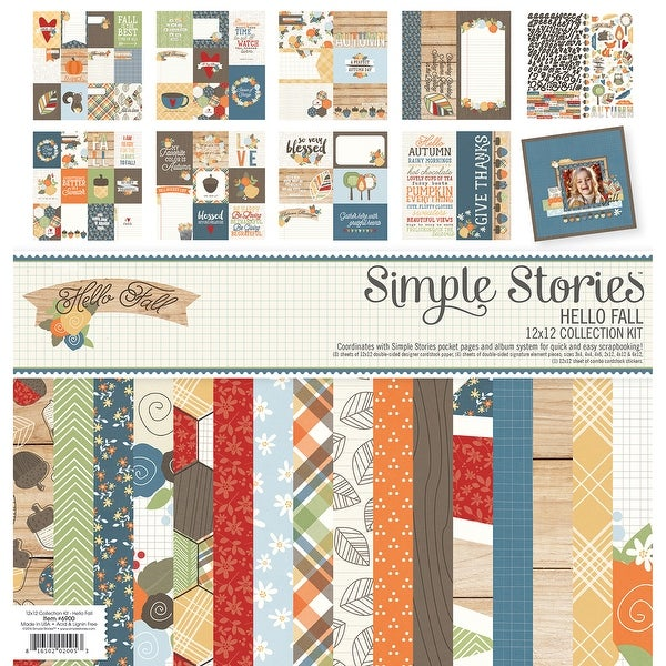 "Simple Stories Collection Kit 12""X12""-Hello Fall"