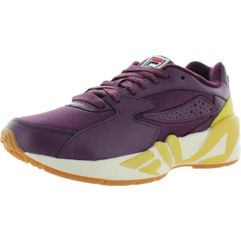 Fila Womens Mindblower Fashion Sneakers Leather Logo - Potent Purple/Ecru/Bamboo