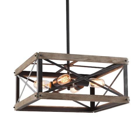 4 light island wood kitchen chandlier,rustic edison pendant light
