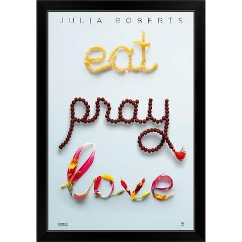 """""""Eat, Pray, Love (2010)"""" Black Framed Print"""