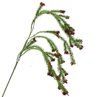 Apple Red Glitter Fern