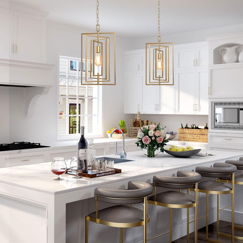 Modern Glam Gold Pendant Lights For Kitchen Island Dining Room Overstock 30082198