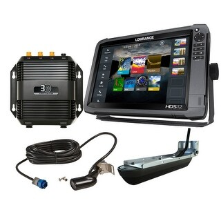 Lowrance HDS-12 Gen3 Med/High Chirp with Insight Mapping & SS3D Transducer