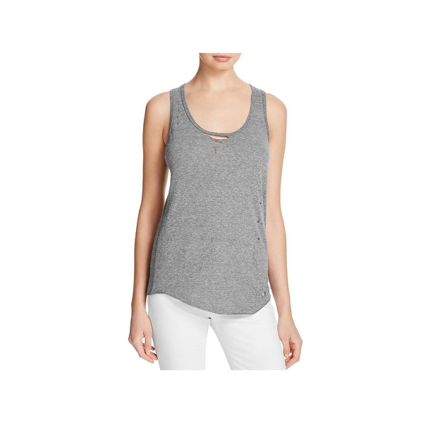 3afb59764591f Shop Pam & Gela Womens Tank Top Heathered Destroyed - Free Shipping ...