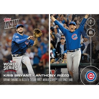 Chicago Cubs Kris Bryant Throws To Anthony Rizzo To Secure First World Series Title Since 1908 - Topps Now #663A - multi