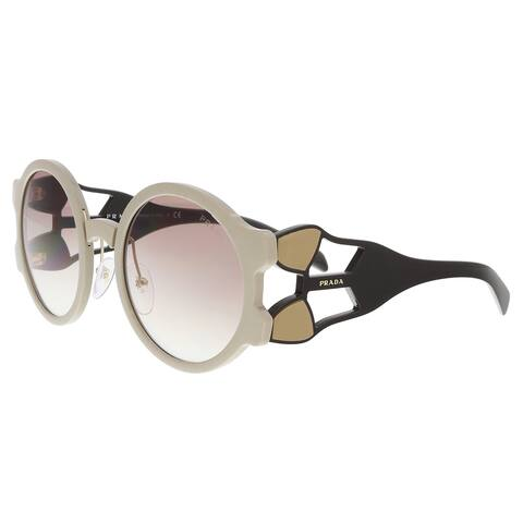 778d573f3ae6d Prada PR 13US LJ71L0 Beige Round Sunglasses - 54-24-140