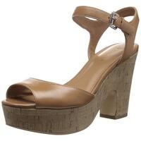 Marc Fisher Womens Calia2 Peep Toe Casual Platform Sandals