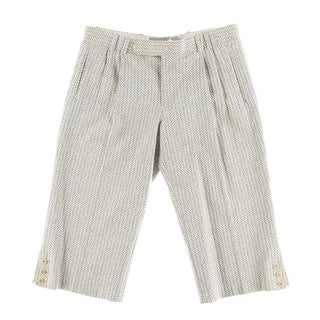 Catherine Malandrino Womens Textured Dressy Cropped Pants - 40