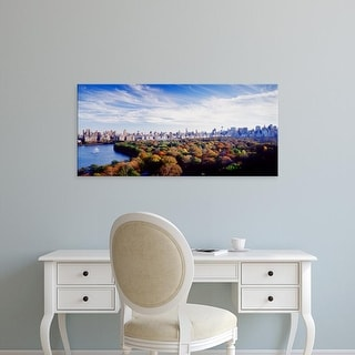 Easy Art Prints Panoramic Image 'Buildings in a city, Central Park, Manhattan, New York City, New York' Canvas Art