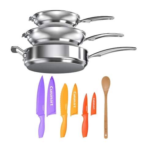 Cuisinart N91-11 Smartnest Stainless Steel 11-Piece Set Bundle