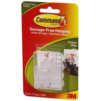 Command 17210 Decorating Picture Clips, White