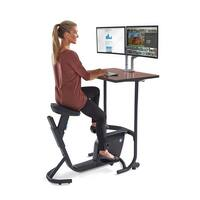 LifeSpan Fitness Unity spin cycle bike desk workstation - Black