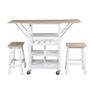 Link to Emery Storage Table and Stools 3- Piece Dining Set Similar Items in Dining Room & Bar Furniture
