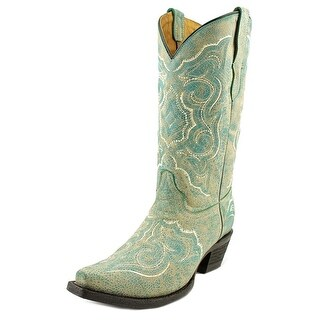 Corral E1051 Women E Pointed Toe Leather Blue Western Boot