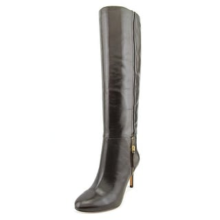 Nine West Vintage Women Round Toe Leather Brown Knee High Boot