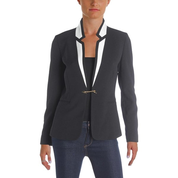 7bba1460aae8 Shop Tahari ASL Womens Petites Blazer Textured Contrast Trim - Free  Shipping On Orders Over  45 - Overstock - 22751452