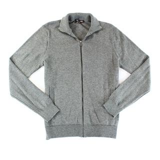 Michael Kors NEW Gray Mens Size Small S Solid Knit Full Zip Sweater