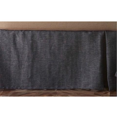 Marcus Indigo Cotton Blend 3 Piece Tuck In Bed Skirt