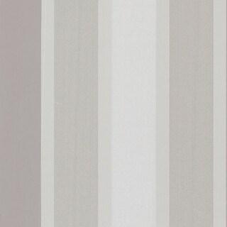 Brewster 488-31224 Horizon Silver Stripe Wallpaper
