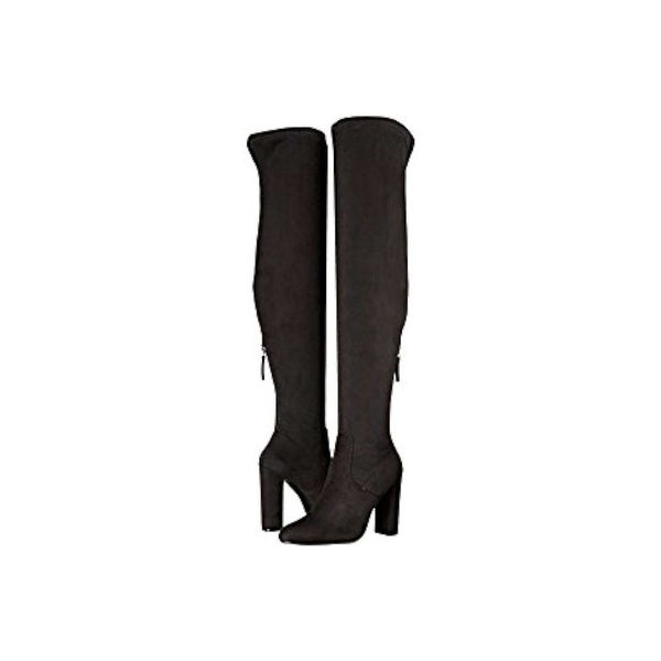 Steve Madden Womens Emotions Almond Toe Over Knee Fashion Boots