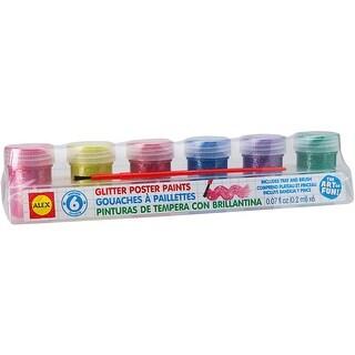 Washable Glitter Paints 6/Pkg-