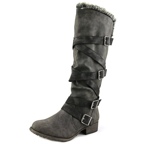 Jellypop Aedon Women Round Toe Synthetic Gray Knee High Boot