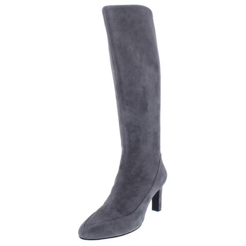 Cole Haan Womens Arlean Knee-High Boots Suede Tall
