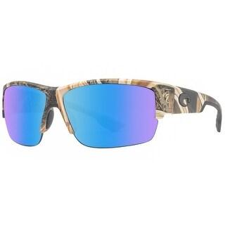 Costa Del Mar Hatch HT65OBMP Mossy Oak SGB Blue Mirror Polarized 580P Sunglasses