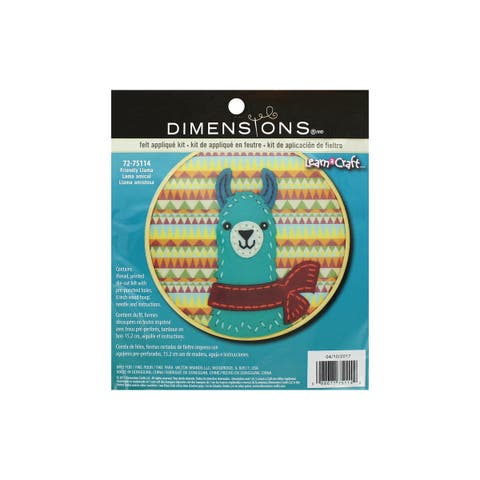 "Dimensions Felt Applique Kit 6"" LAC FriendlyLlama"