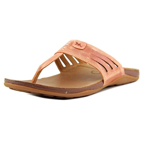 Chaco Sansa Women Open Toe Synthetic Orange Flip Flop Sandal