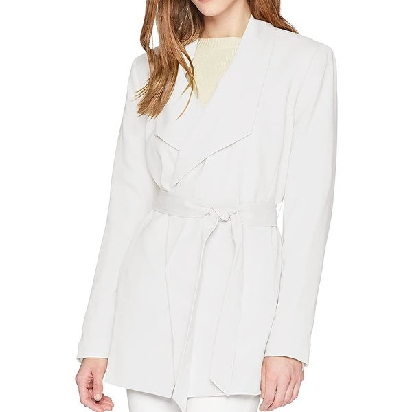 Nine West Women's Jacket Heavenly White Size 16 Belted Trench Coat. Opens flyout.