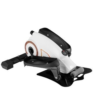 Gymax Portable Mini Magnetic Elliptical Stepper Machine Resistance Adjustable Fitness - as pic