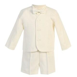 Baby Boys Ivory Eton Short Formal Ring Bearer Easter Suit 6-24M