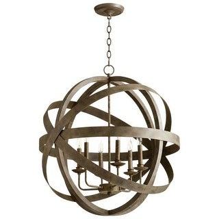 Cyan Design Gladwin Six Light Pendant Gladwin 6 Light Pendant with Bronze Shade