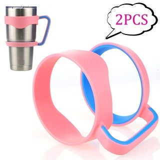 Image 2PCS 30 oz Tumbler Handles for Rtic YETI Rambler 30 oz (Handle Only) Pink and Blue