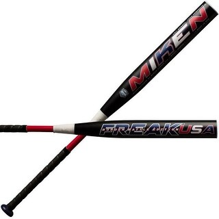 "Miken Freak USA Border Battle 14"" Supermax Slowpitch Softball Bat Black MBBFKA"