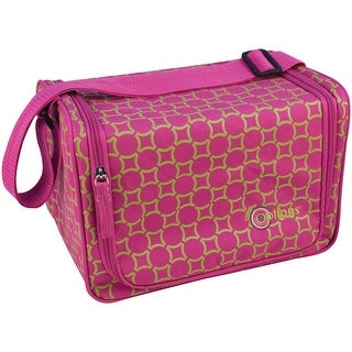 """Creative Options Stow'n Go Shoulder Tote-12""""X8.25""""X8.25"""" Magenta & Green Maze - Pink"""