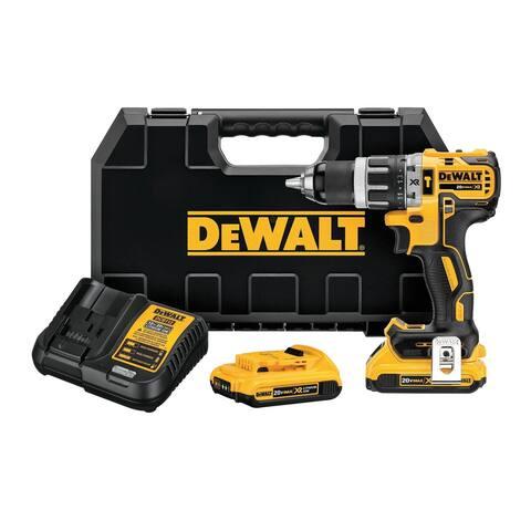 Dewalt DCD796D2 20V MAX XR Li-Ion 0.5-Inch Compact Hammer Drill Kit