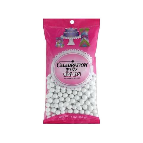 95010 sweetworks sixlets celebration 14oz shim white