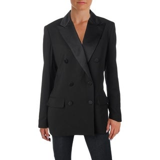 Lauren Ralph Lauren Womens Ryen Double-Breasted Suit Jacket Wool Long Sleeves