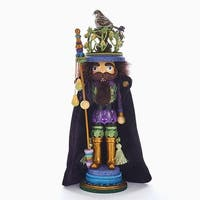 """18"""" Vibrantly Colored Nutcracker with Partridge in Pear Tree Christmas Decorative Figurine - green"""