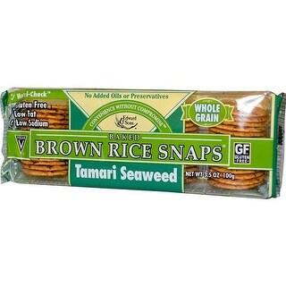 Edward & Sons - Fat Free Snaps Tamari Seaweed ( 12 - 3.5 OZ)