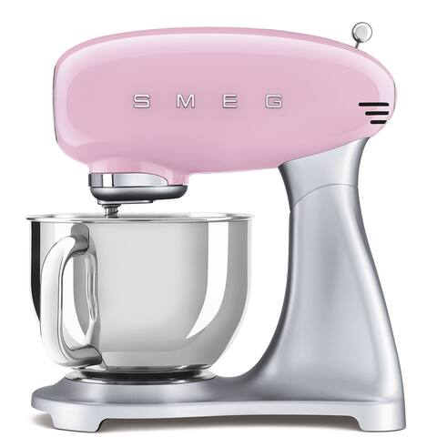 Smeg 50's Retro Style Aesthetic Stand Mixer, Pink