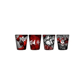 Harley Quinn 4pc Mini Glass Set