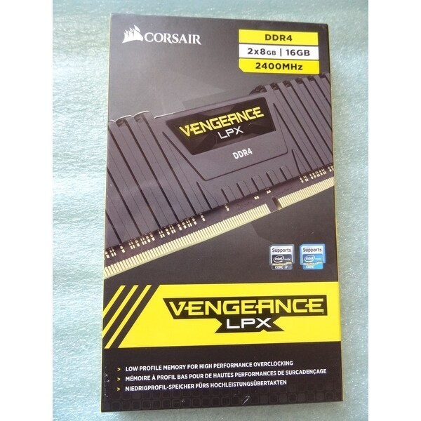 Corsair Vengeance LPX 16GB (2x8GB) DDR4 DRAM 3200MHz C16 Memory Kit - Black