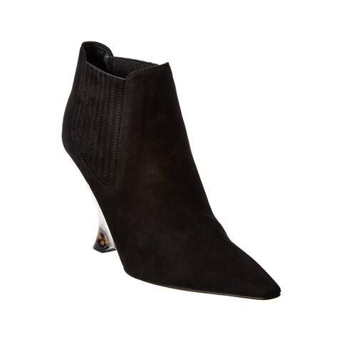 Dior Women's Suede Optic-D Heeled Bootie Black