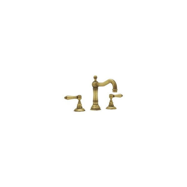 Rohl A1409LM-2 Country Bath Widespread with Metal Lever Handles and Pop-Up Drain