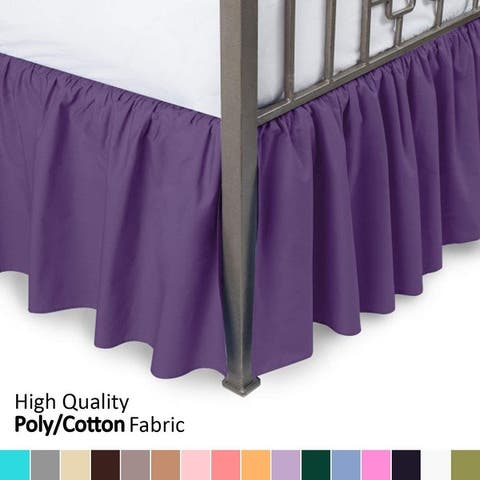 Ruffled Bed Skirt With Split Corners