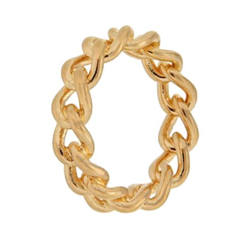 Forever Last 18 kt Gold Plated Women's Chain Link Ring