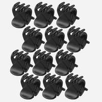 Unique Bargains 6 Pair Black Plastic Hairclip Hair Clamp Claw Clip for Lady